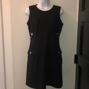 Michael Kors Ladies Black Midi Dress